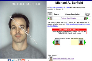 Michael Barfield (Mugshot) Arrested Monday, October 25th, 1999