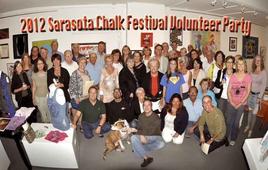 Sarasota Chalk Festival volunteer Michael Barfield