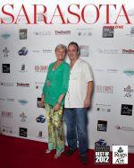 Denise Kowal and MIchael Barfield pose at social function.
